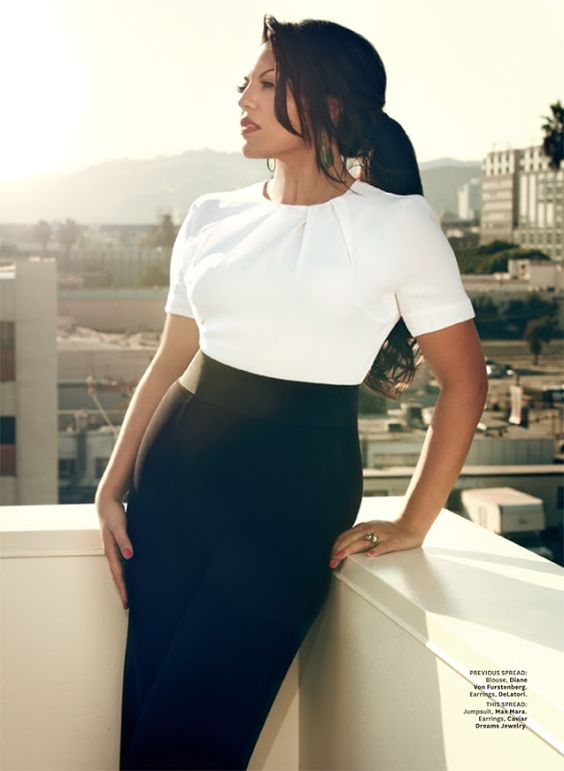 Simple, lovely. Sara Ramirez for Latina Magazine December 2012