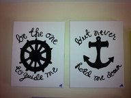 2 8x10  Nautical canvas by Jessicanvas on Etsy, $15.00