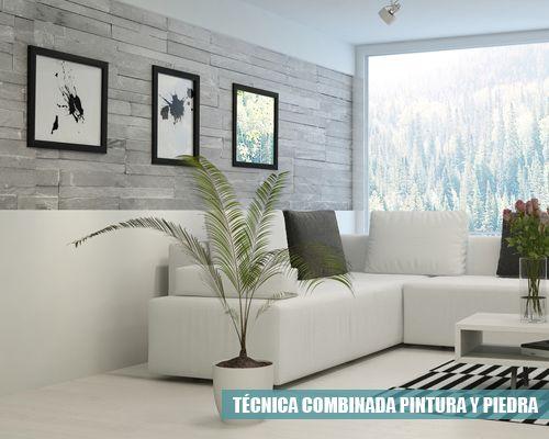 T cnica combinada de textura y piedra decoalb pintura for Tecnica para pintar piedras