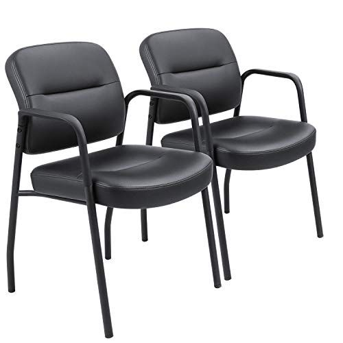 Devoko Office Reception Chairs Executive Leather Guest Chairs With