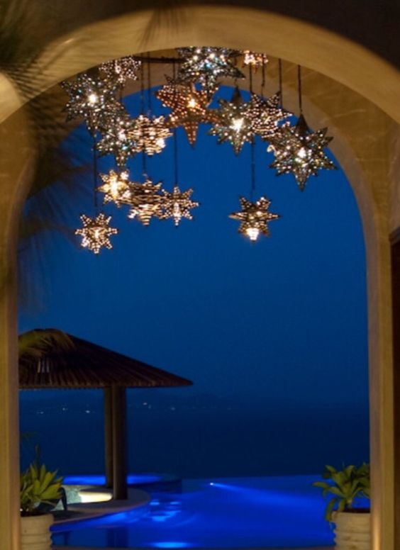 Stars Custom Chandelier El Callejon Art | Custom