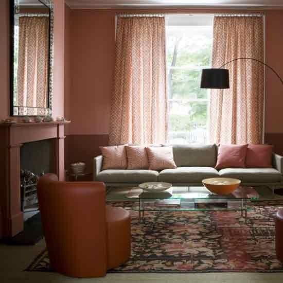 Terracotta living room