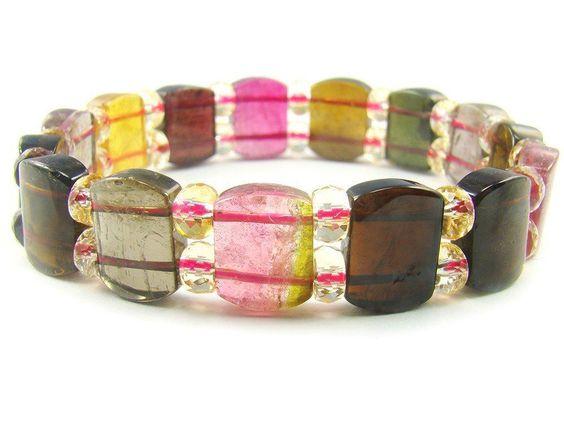 BA6838 Multicolors Tourmaline Natural Crystal Stretch Bracelet - See more at: http://waggashop.com/wagga-shop-ba6838-multicolors-tourmaline-natural-crystal-stretch-bracelet