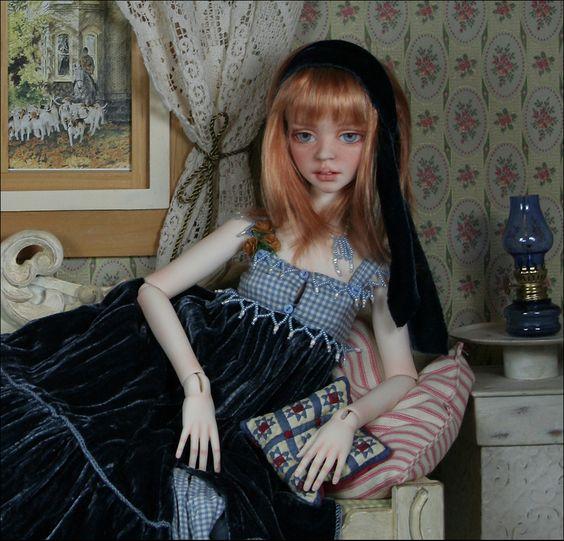 BJD doll - Cassi lounging, BJD doll