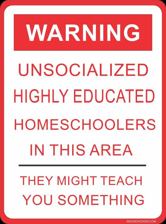 WARNING, HOME SCHOOLERS! collectible, funny sign, home school curriculum decor #SIGNCHICKEN #Novelty