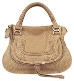 Chole 1836 Snakeskin leather Tote Bag Apricot