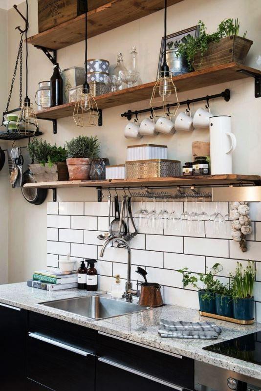 20 Ideas De Estantes Abiertos Para Cocina Funcionales Decoracion De Cocinas Rusticas Diseno De Cocina Rustica Decoracion De Cocinas Sencillas