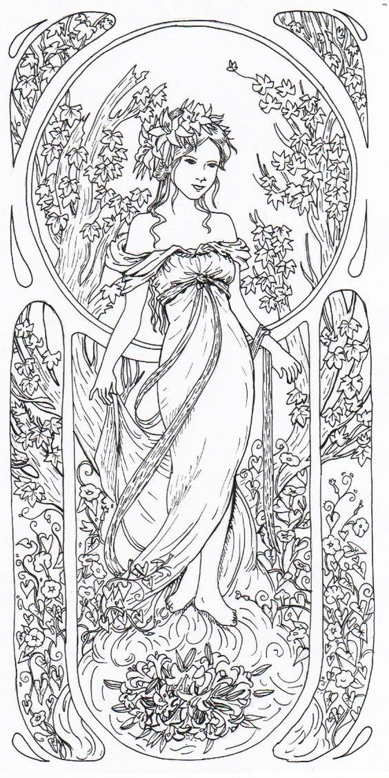 tribute to alfons mucha 2 by on deviantart pinterest coloring. Black Bedroom Furniture Sets. Home Design Ideas