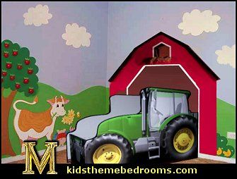 Tractor theme photos for toddlers create a unique for John deere bedroom ideas