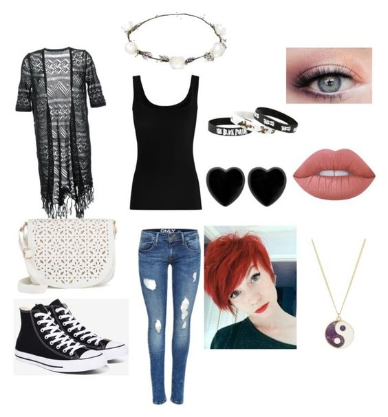 """""""Untitled #30"""" by aubrey-corbett on Polyvore featuring beauty, Twenty, Guild Prime, Converse, Under One Sky, Lipsy, Dollydagger, Lime Crime and Monsoon"""
