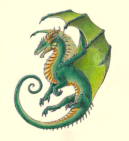 Green Dragon Tattoo Design Dragon Tattoo Designs Dragon Tattoo Baby Dragon Tattoos