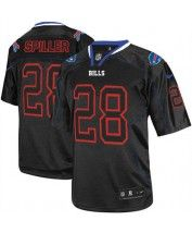 Nike Buffalo Bills #28 C.J. Spiller Lights Out Black Men's Stitched NFL Elite Jersey