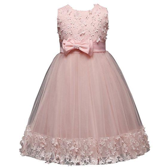 Amazon.com: FantastCostumes Girl Flower Summer Lace Dress(Pink, 150): Clothing