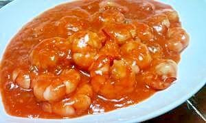 「15分で簡単★中華料理屋さん風エビチリ」フライパンひとつで簡単に美味しい本格的なエビチリが作れます★簡単なのに豪華なメニューですv(*'-^*)-☆【楽天レシピ】