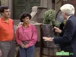 November 18, 1985 Phil Donahue, who has come to pick up his toaster from the fix-it shop, interviews the adults about whether they think Big Bird's secret word is silly or not.
