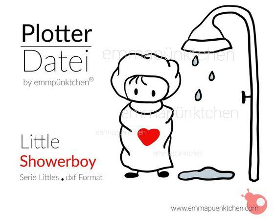 """∙ • Plotterdatei """"Little Showerboy"""" von Emma & Pünktchen DIY auf DaWanda.com"""