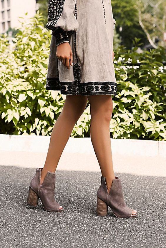 Chunky Heel Booties: Over 35 Gorgeous Pairs - HighHeelseek