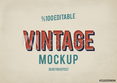 Illustrator Vintage Text Effects In 2020 Vintage Text Text Effects Retro Logos