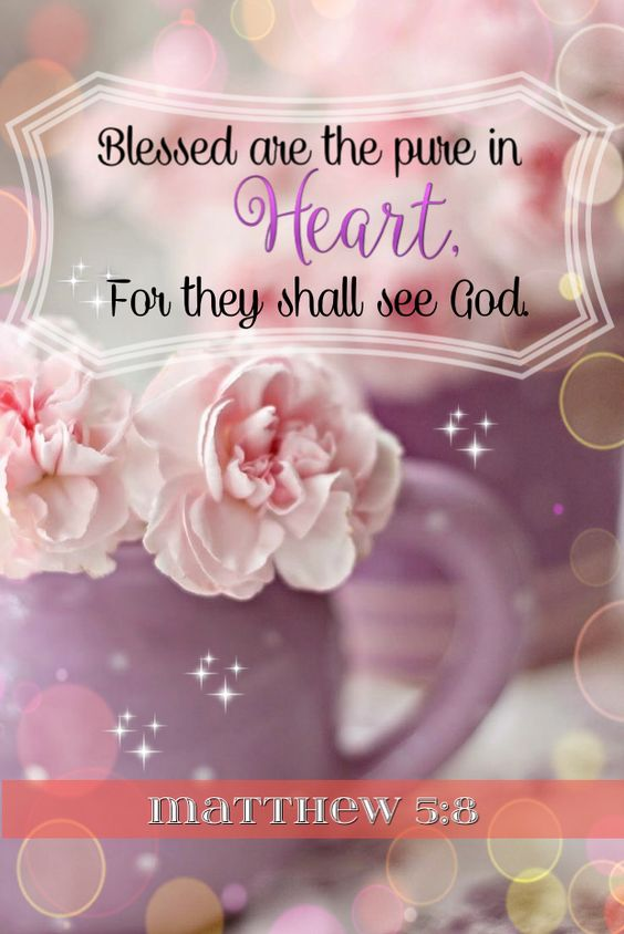 "In Matthew 5:8 KJV Jesus said, ""Blessed are the pure in heart: for they shall see God."".:"