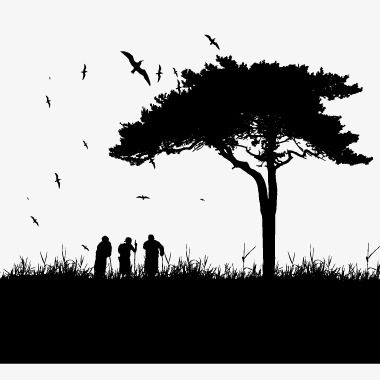 Black Trees Silhouette Figures Vector Black Vector Silhouette Vector Trees Png Transparent Clipart Image And Psd File For Free Download Tree Silhouette Black Tree Silhouette Vector