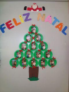Prof Francy Arvore De Natal Com Pratos Descartaveis Com Imagens