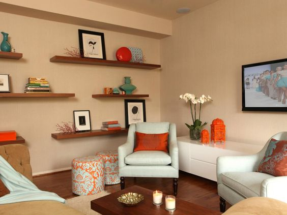 interior design shelves - Small apartments, Design styles and Home decorating on Pinterest