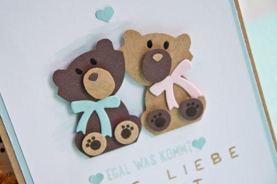 Süße Bärenkarte zur Hochzeit