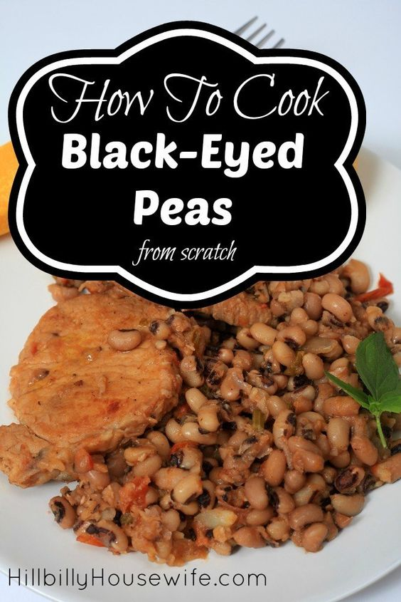 Here's how to cook the perfect batch of black eyed peas from scratch. All it takes is some dried peas, water, a few seasonings and a little time.