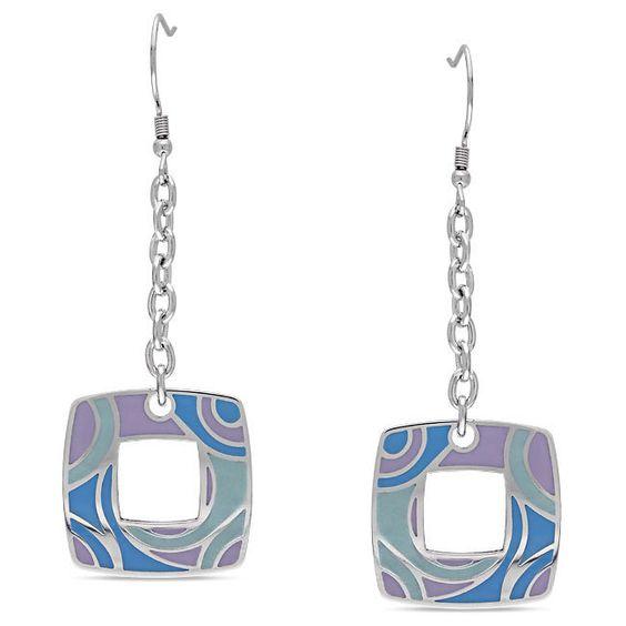 by Miadora Stainless Steel Swirl Dangle Earrings Women's