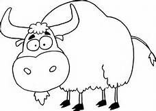 Yak clipart black and white - photo#6
