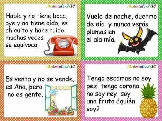 Pin By Idaly On Adivinanzas Learning Spanish For Kids Alphabet Kindergarten Spanish Teaching Resources