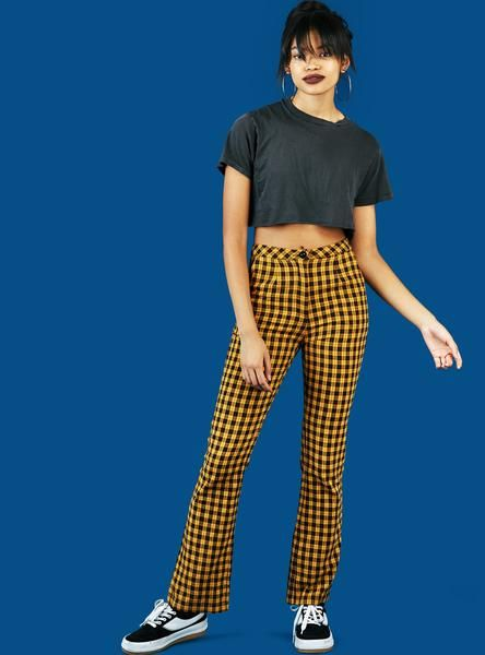 UNIF | Winx Pant - Black/Yellow Plaid