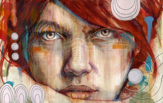 Яркие, романтически портреты Майкла Шэпкотта (Michael Shapcott) / Майкл Шэпкотт создает удивительно точные, насыщенные яркими красками, рисунки, большая часть из которых - портреты людей. Они сделаны в такой манере, будто являются зарисовками очень хороших снов - настолько легкие, почти сказочные цвета использует художник.