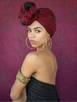 black girl with red turban, head wrap, fashion accessories, black womens, inspiration