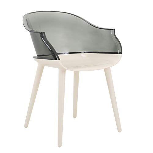 Chx Transparent Dining Chair Acrylic Armrest Modern Minimalist