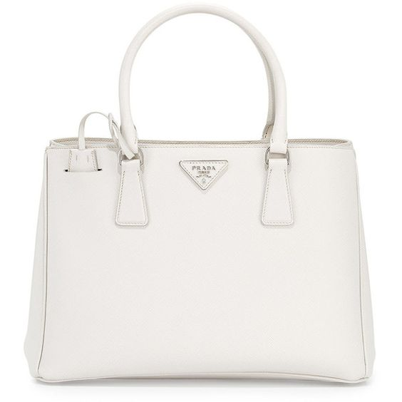 prada white leather handbag - Prada Saffiano Lux Small Gardener\u0026#39;s Tote Bag found on Polyvore ...