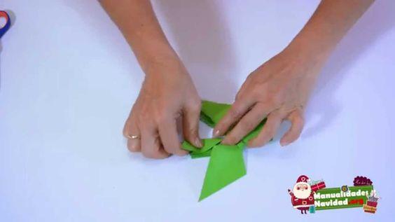 ORIGAMI: Lazo navideño de papel paso a paso