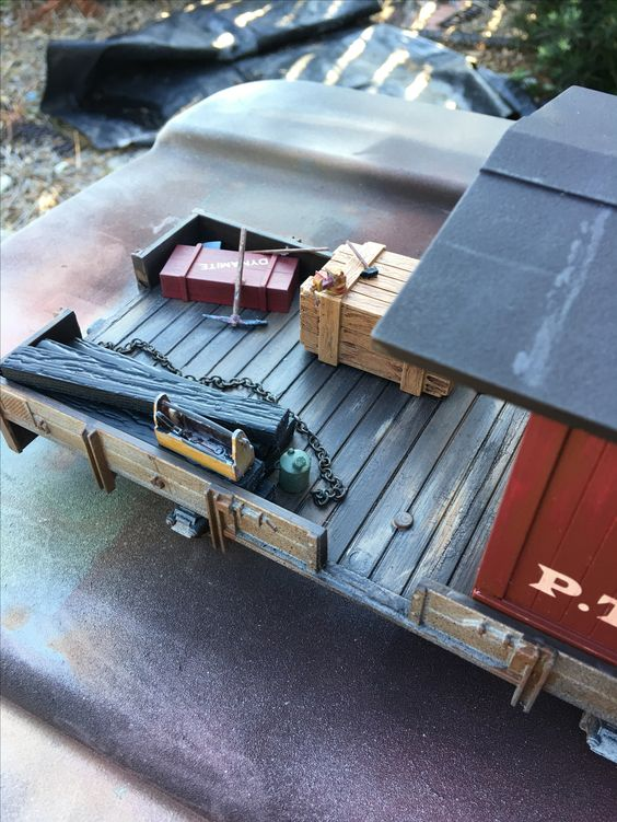 working end of caboose