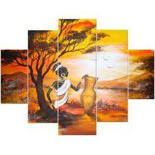 Resultado de imagen para pinturas cuadros paisajes africanos
