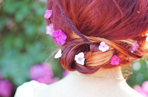 Formal Updo with Flowers
