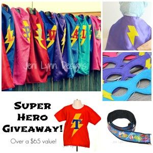 Enter to win a SUPER Custom Super Hero Prize Pack Worth over $65!