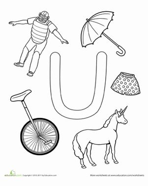 Worksheets Letter U Word For Preschool u is for the alphabet ojays and coloring pages preschool letter worksheets for