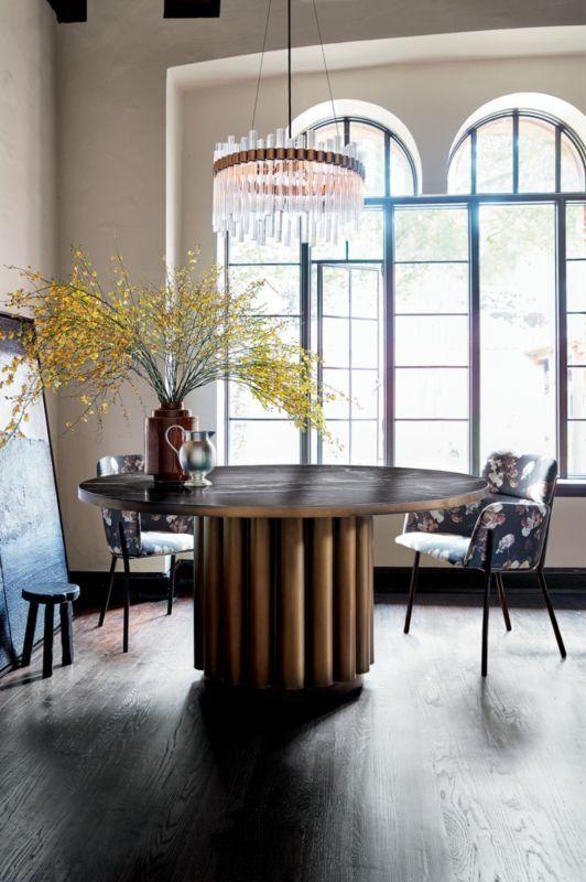Cypher Black Marble Dining Table Reviews Cb2 Marmor Esstische Marmortisch Kronleuchter Kristall