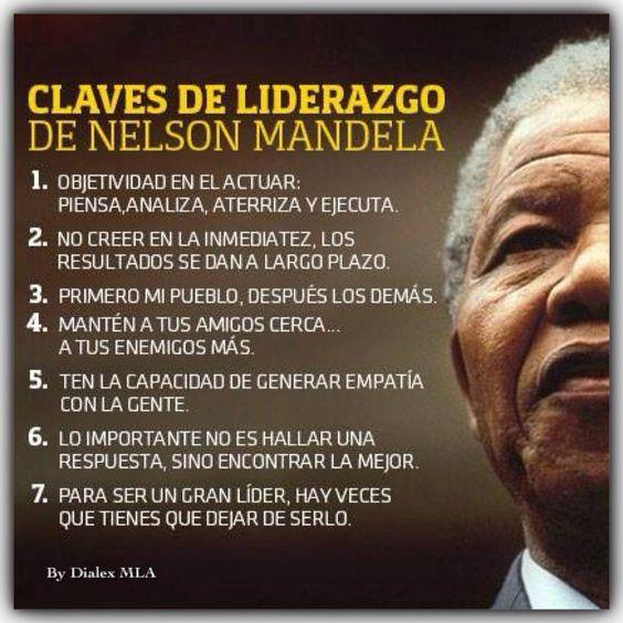 7 claves de liderazgo de Nelson Mandela #infografia #infographic