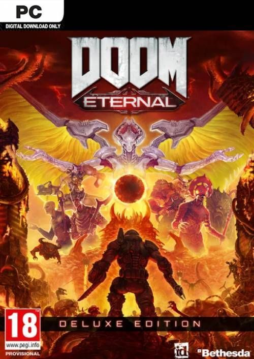 Pre Order Doom Eternal Deluxe Edition Pc Digital Download 49 99 In 2020 Video Game Wall Art Gaming Wall Art