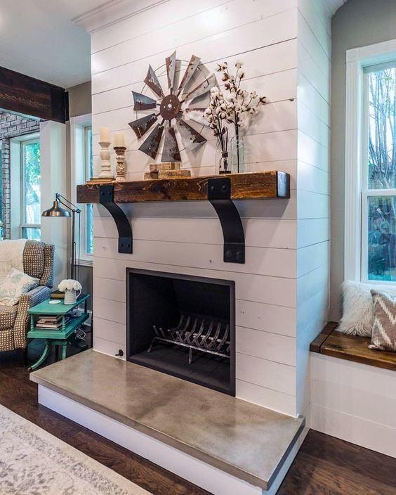 Top 60 Best Fireplace Mantel Designs Interior Surround Ideas Brick Fireplace Makeover Farmhouse Fireplace Decor Fireplace Remodel