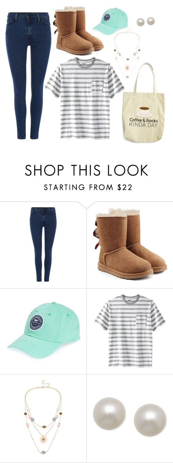 """Early n the Morn'"" by mairvse ❤ liked on Polyvore featuring Levi's, UGG Australia, Vineyard Vines, Mixit and Honora"