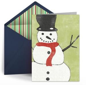16 Places to Find Fabulous and Free Christmas Ecards: Snowman by Punchbowl