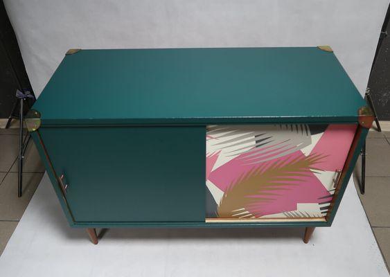 Oklejanie Mebla Tapeta Metamorfoza Komody Prl Refreszing Decor Home Decor Furniture