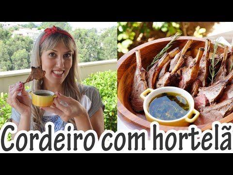 Carrè de Cordeiro com molho de hortelã